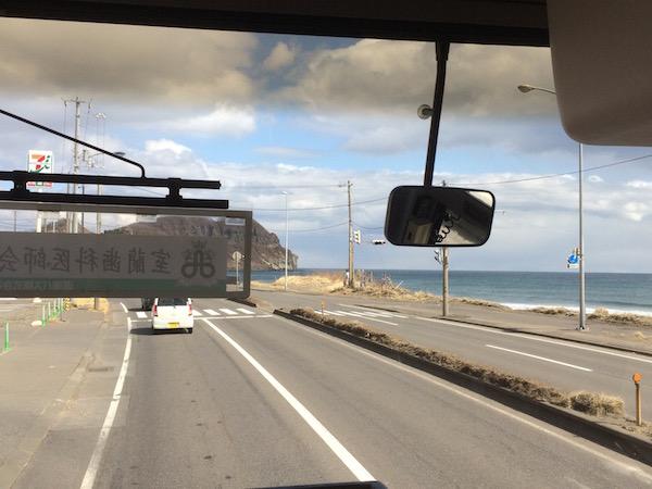 でもお天気は良かった、、右はイタンキ浜です