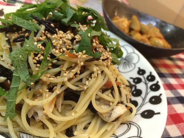 鯖とヒジキの煮物