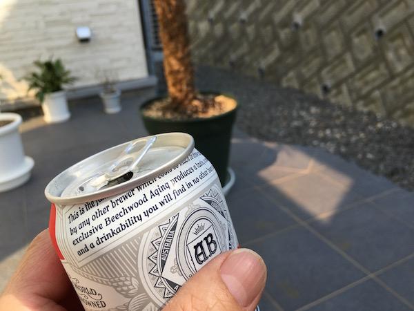 帰宅後のビールがウマかった〜ん