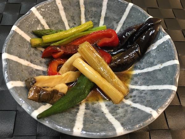 焼き野菜の煮びたし