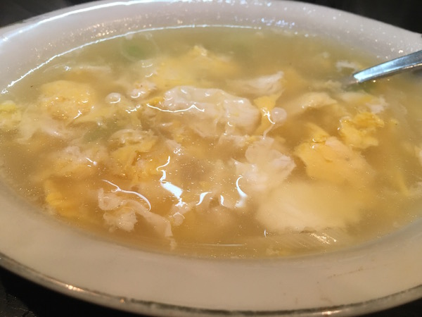 椎茸抜きの卵スープウマイ