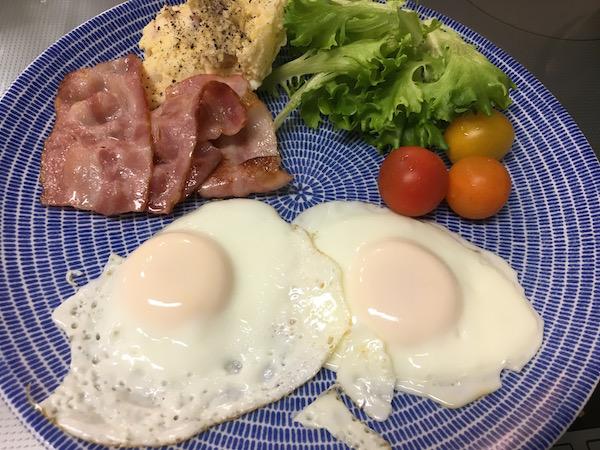 朝食を「いつもの」に戻しました