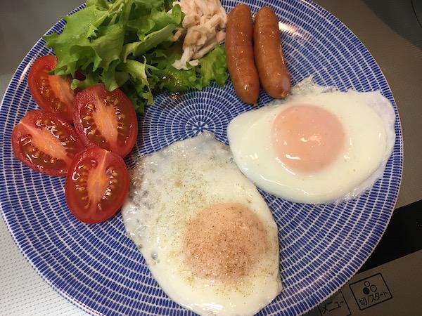あっ、昨日から朝食をもとに戻しました