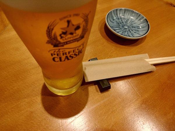 最初はやっぱりビールだよね
