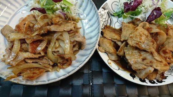 豚肉料理を2種類