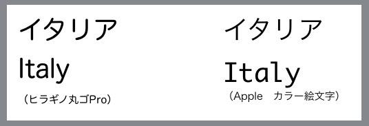 Apple カラー絵文字