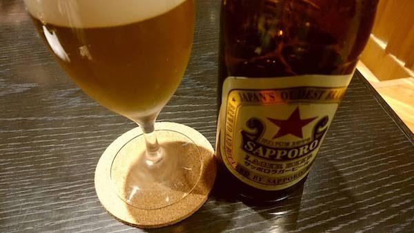 生ビールのサーバ不良で瓶ビールです