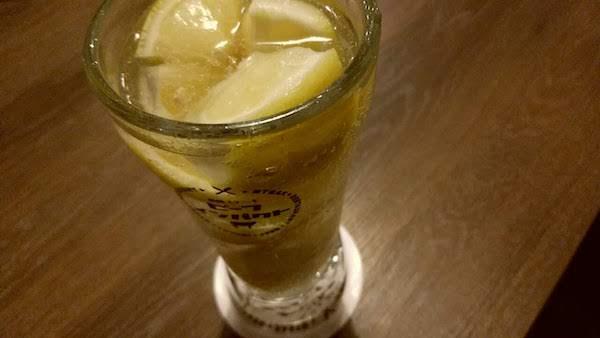 レモンサワーを飲むのも久しぶり